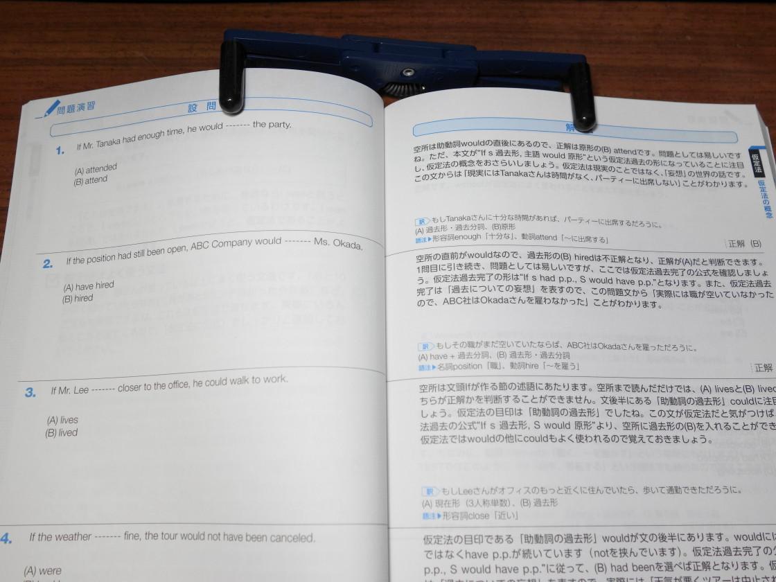 パーフェクト講義英文法編の見開き1ページ