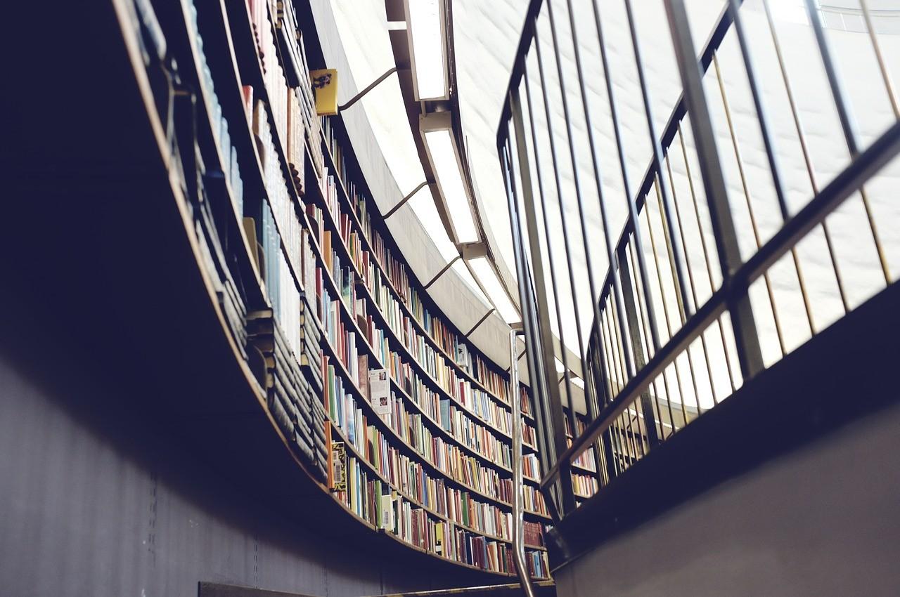 現代的な図書館の様子