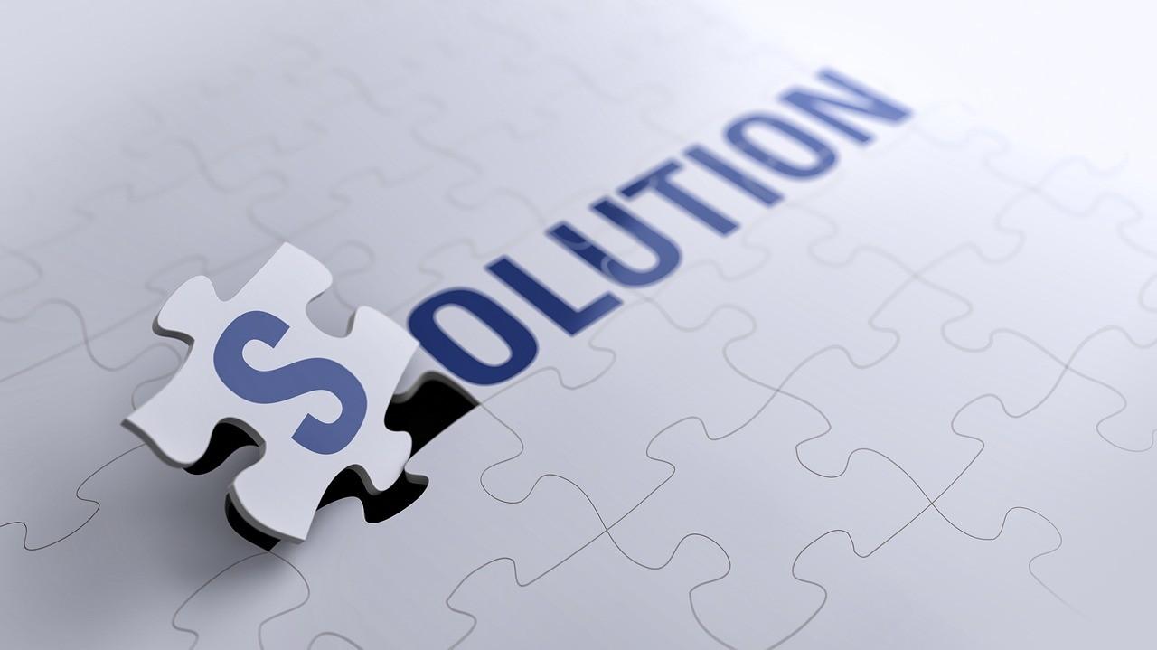 「解決」の文字
