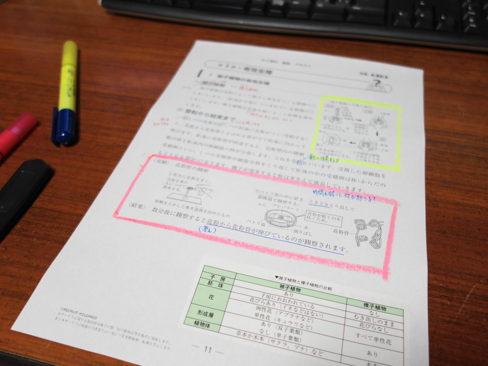 中学理科の理想的なノート