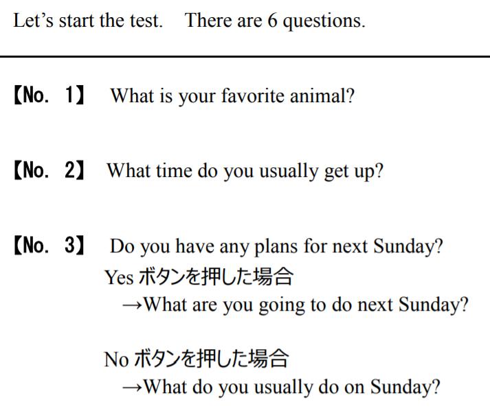 フィージビリティ調査の第1~3問