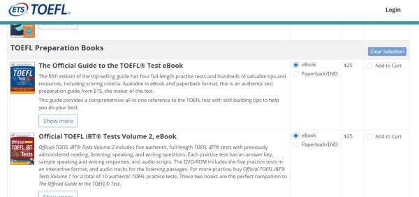 TOEFL公式問題集の買い方