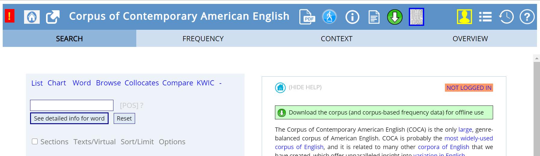 COCAのトップページ