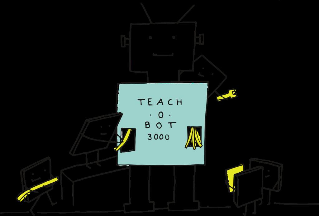 教えるロボット
