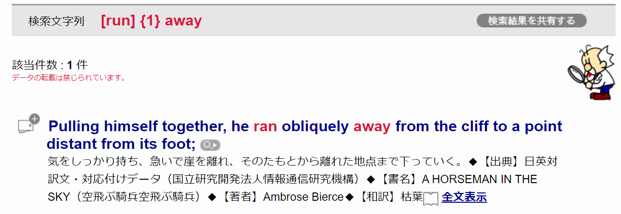 検索結果の例