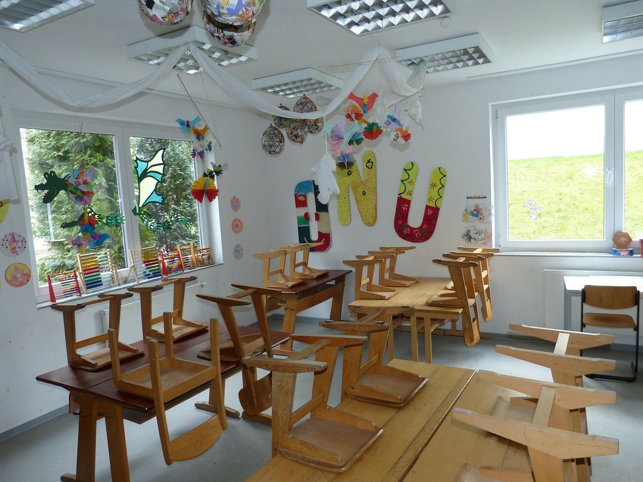 英語教室の内装
