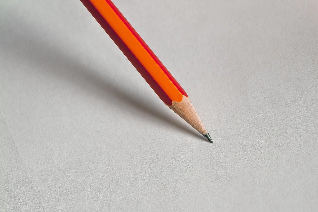 手書き用の鉛筆