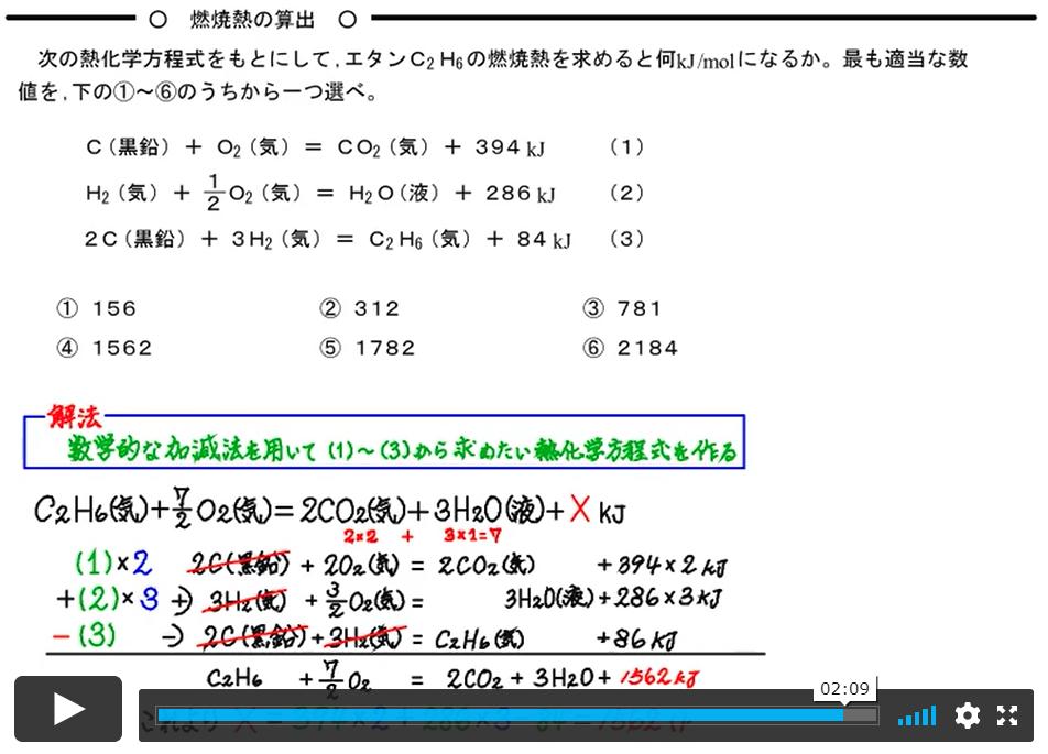 燃焼熱の計算