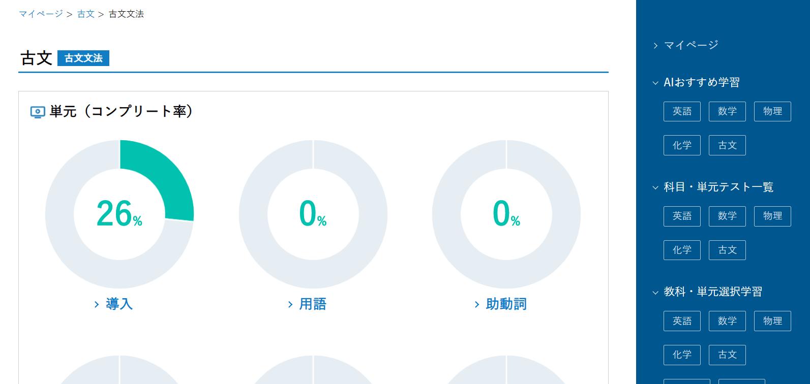 河合塾Oneの古文単元
