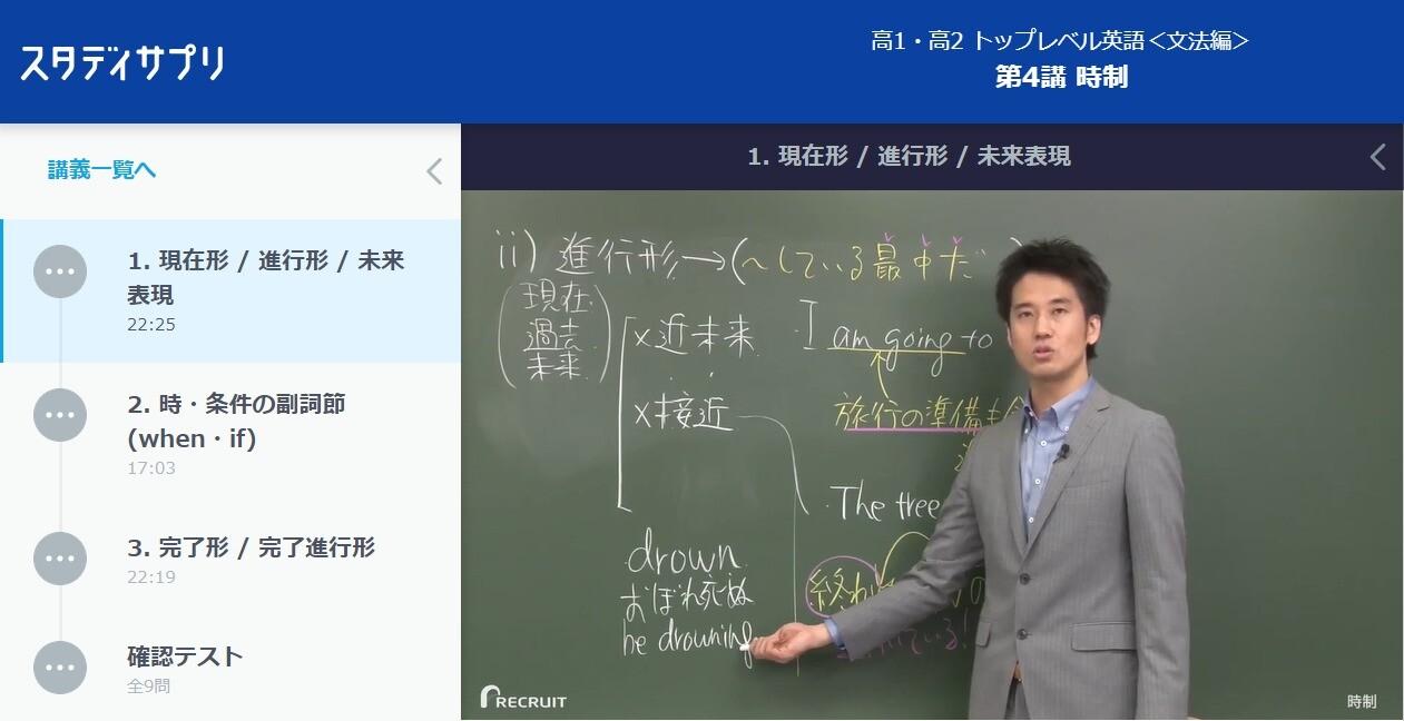 高1・高2トップレベル英語の講義動画