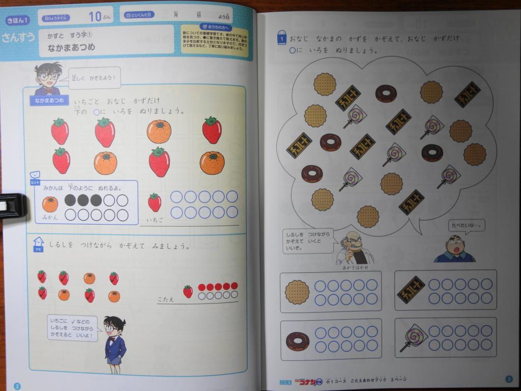 名探偵コナンゼミ算数の基本ページ