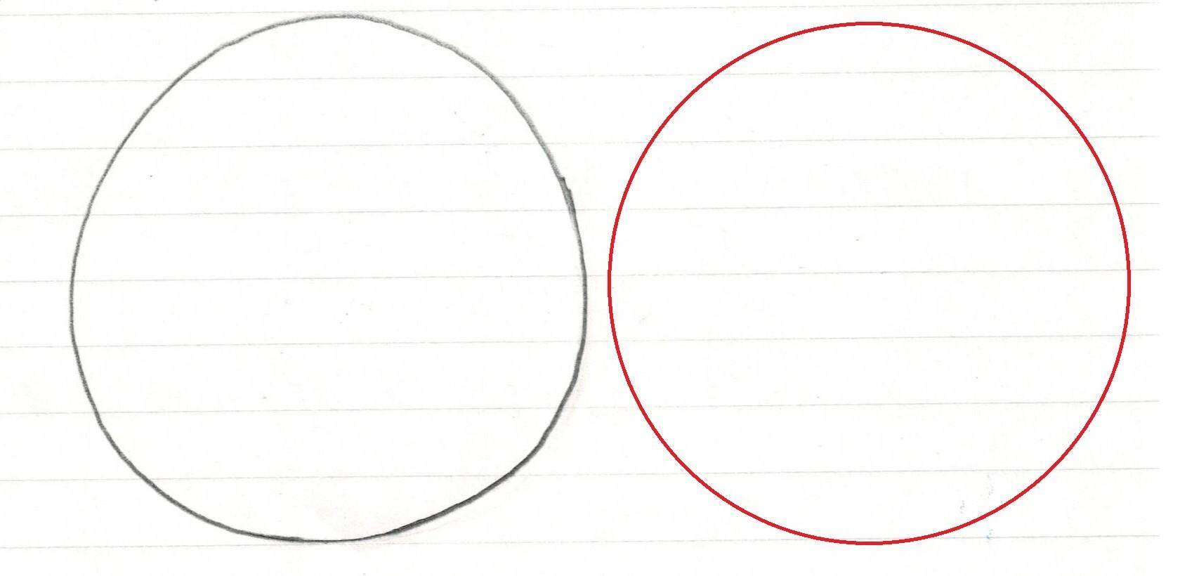 フリーハンドと正確な円
